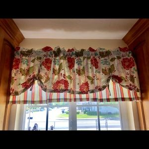 Floral and Striped Valance Curtains